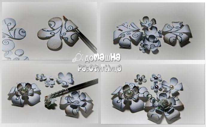 Как се прави цвете от хартия