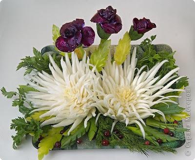 украса от зеленчуци