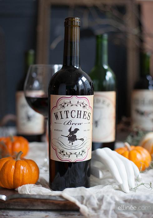 Етикети за вино за хелоуин
