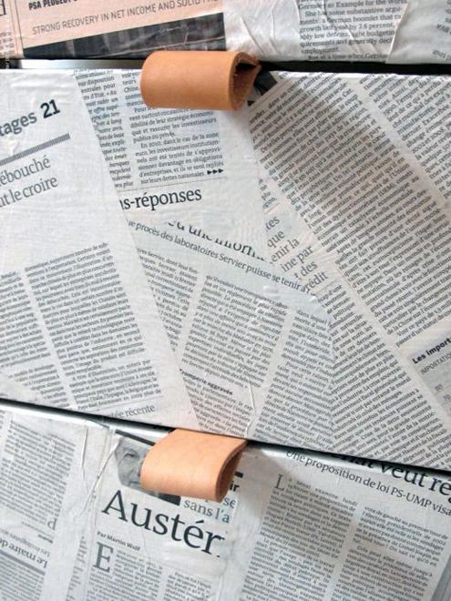 декупаж с вестници