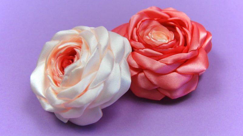 роза от сатен