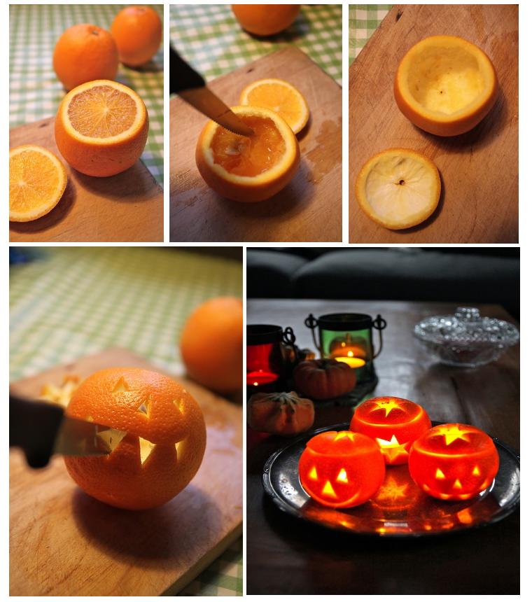 Фенер от портокал за Хелоуин