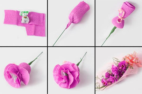 Роза из бумаги своими руками схемы поэтапно фото 360