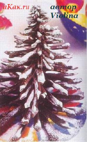 Как да направим шоколодова елха за Коледа