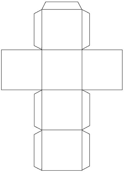 Шаблон на куб