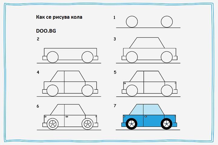 Как се рисува кола 4
