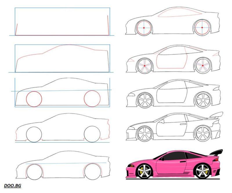 Как се рисува кола
