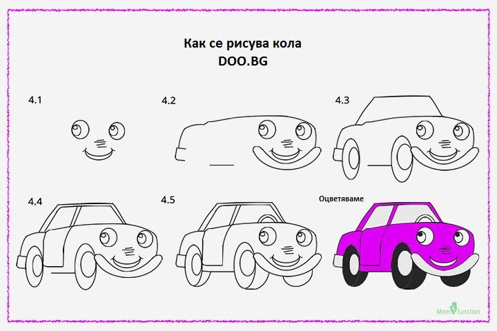 Как се рисува кола 1