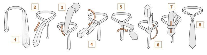 възел за тънка вратовръзка