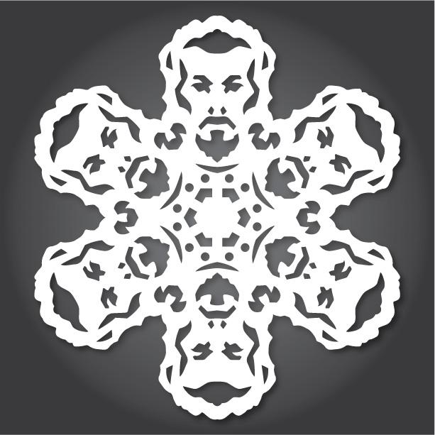 снежинки за изрязване
