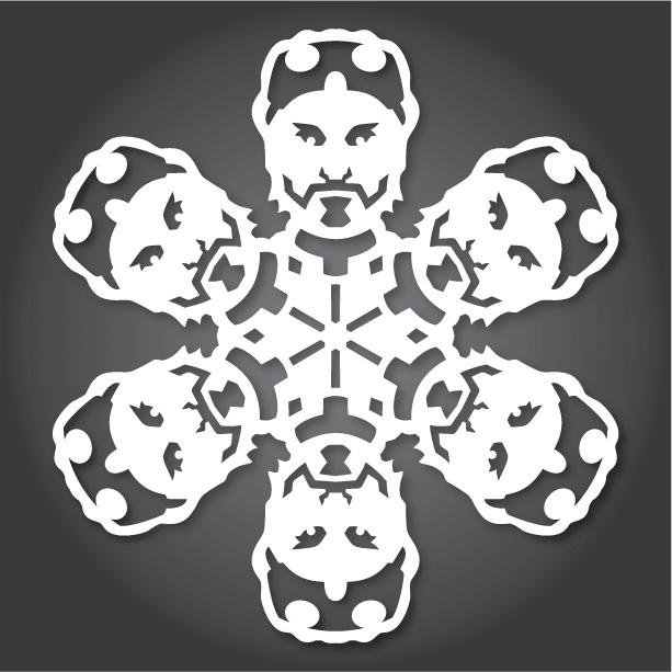 снежинки за изрязване шаблон