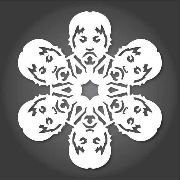 шаблон за снежинки