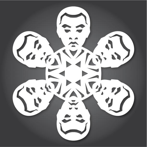 шаблони за снежинки