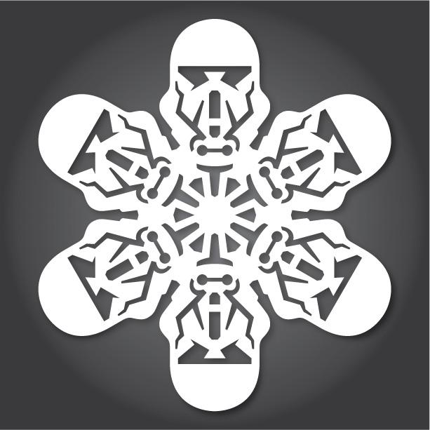 снежинки за изрязване междузвездни войни