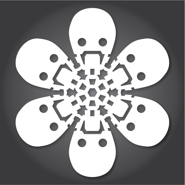 снежинки шаблони
