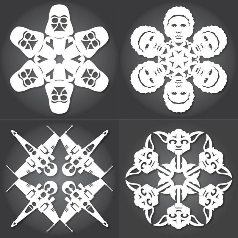 оригинални снежинки за изрязване