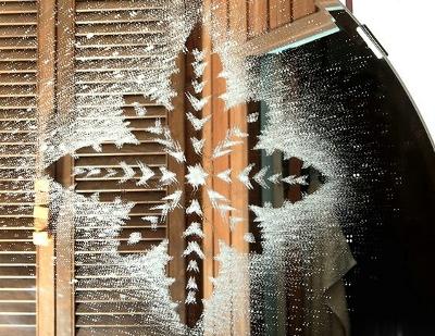 Коледна украса за прозорец