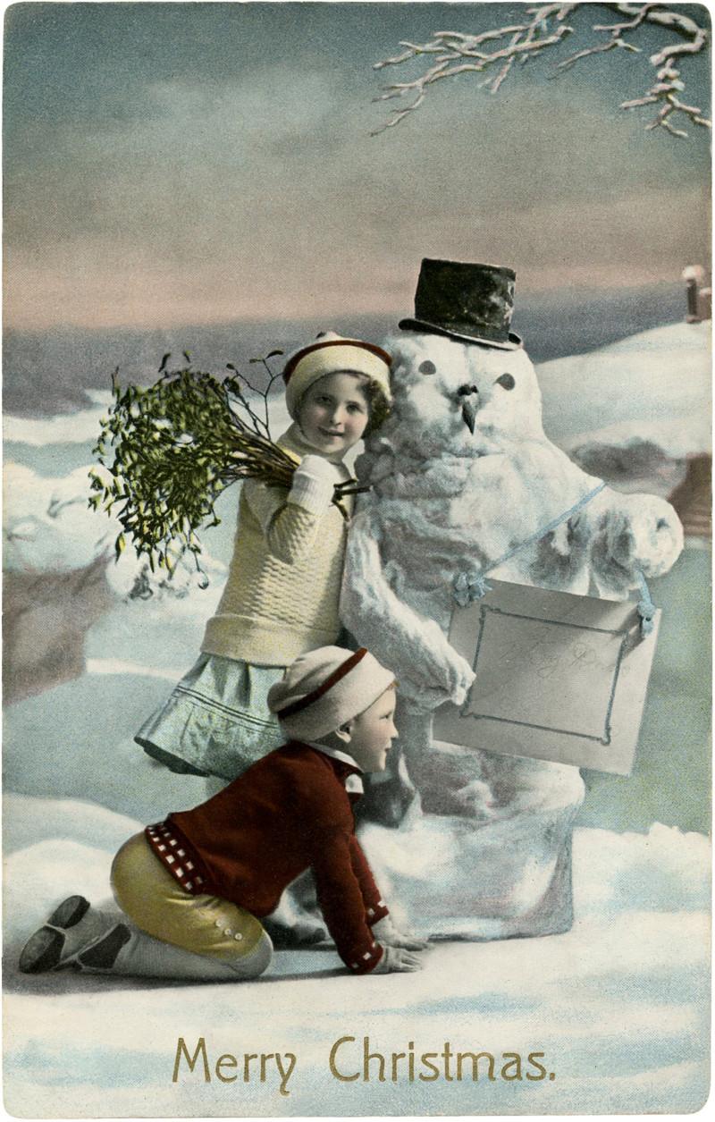 Коледна ретро картичка
