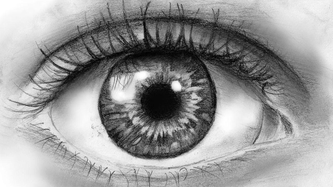 Как се рисува око