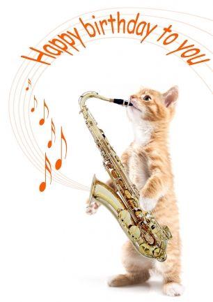 Открытки с саксофонистом