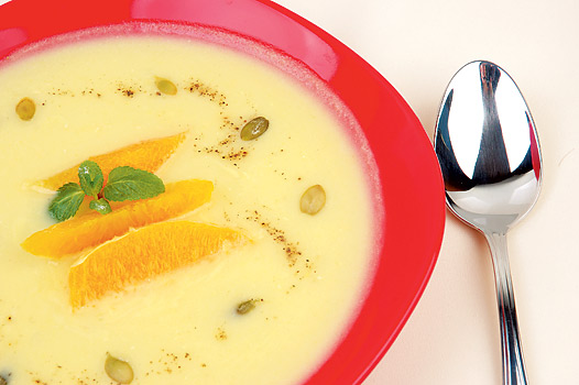 Крем супа с портокал