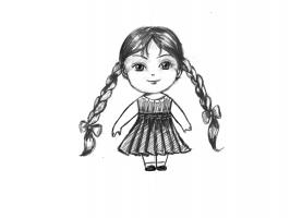 Как се рисува момиченце
