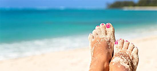 Полепнал ппясък по краката след плаж