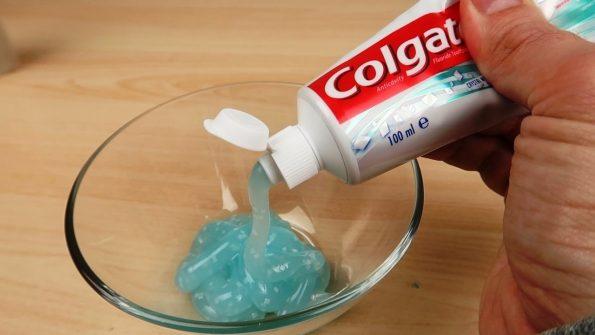 Слайм от паста за зъби