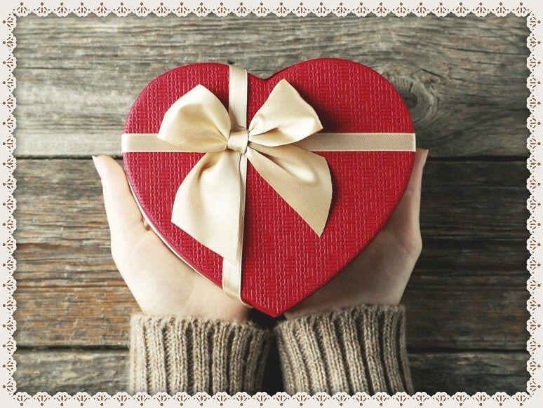 Картинка с подарък сърце