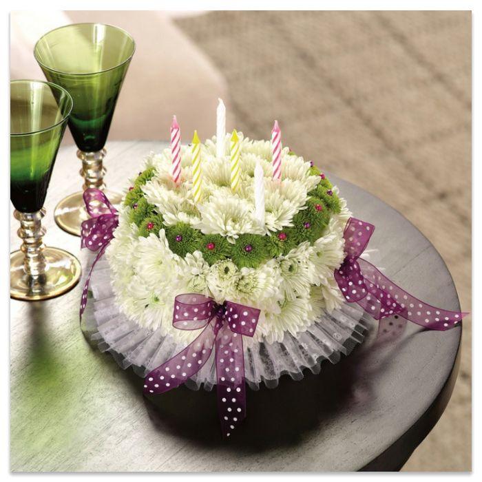КАртинки за рождени дни с торта и цветя
