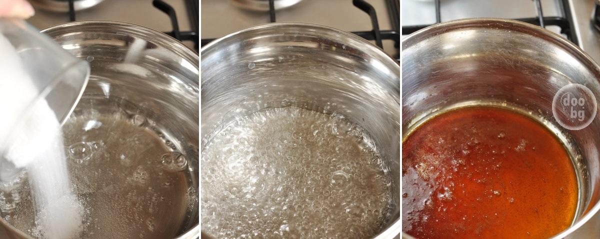 Крем карамел - как се прави карамелен сос