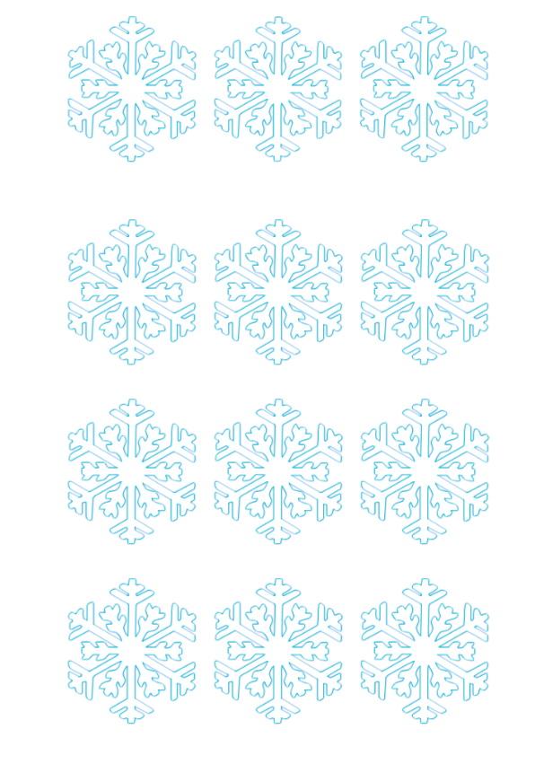 снежинки за принтиране
